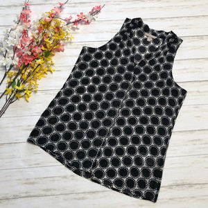 Banana Republic Black White Polka Dot Tank Top